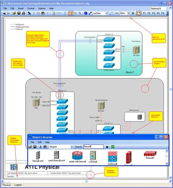 Network Notepad Diagramming Software