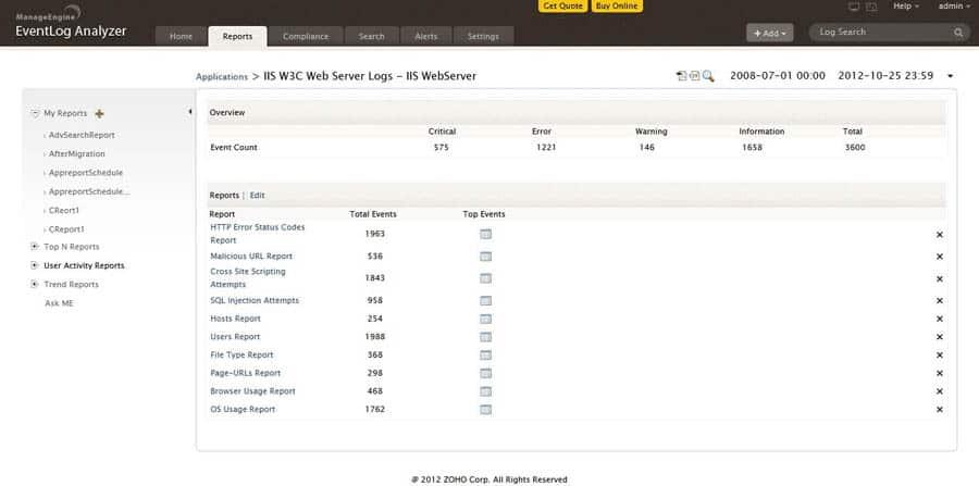 iis w3c web server logs
