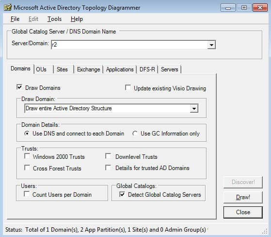 active directory topology diagrammar from microsoft
