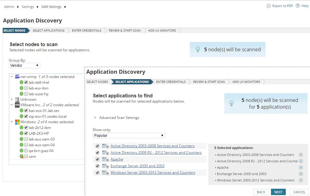 Automated Application server discovery