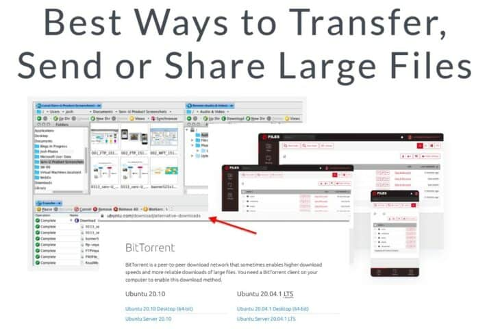 Best Ways to Transfer Send or Share Large Files