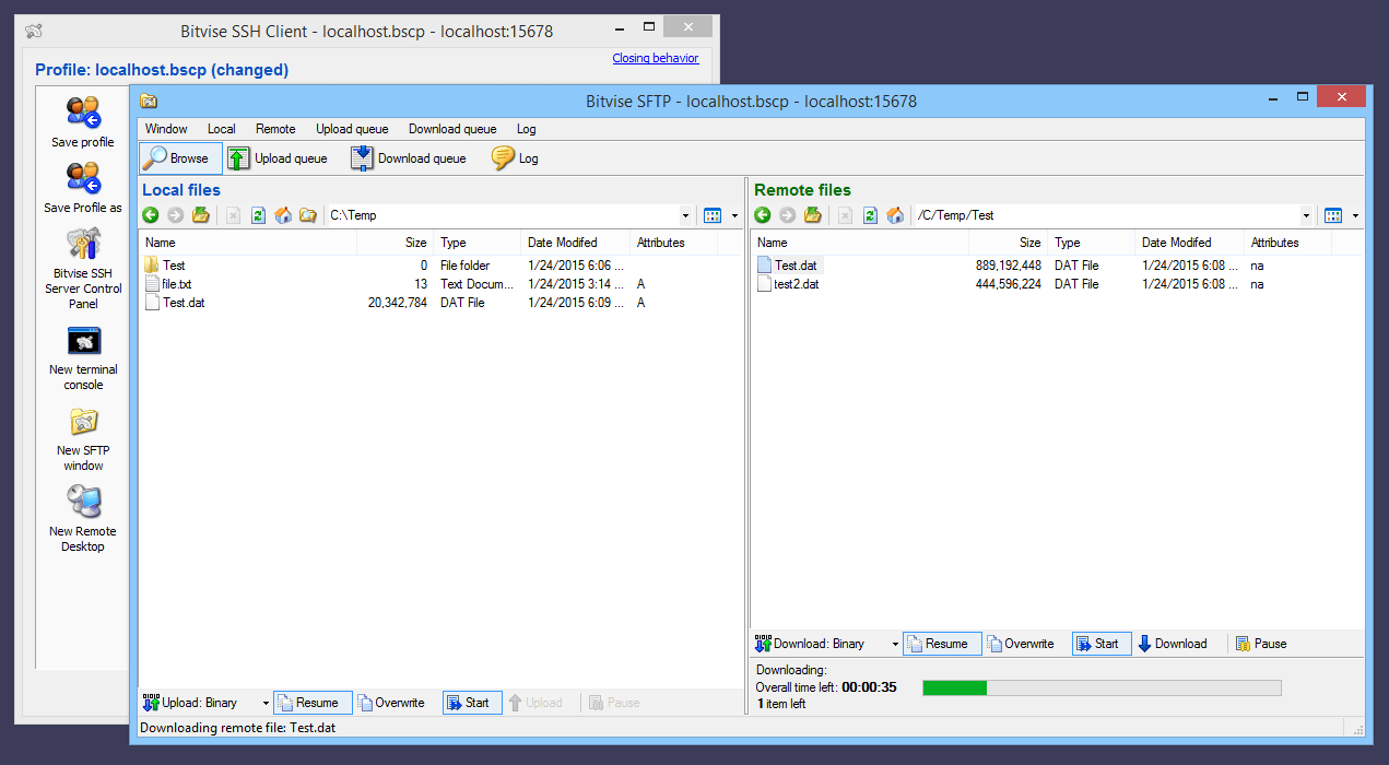BvSshClient Sftp Server software and download