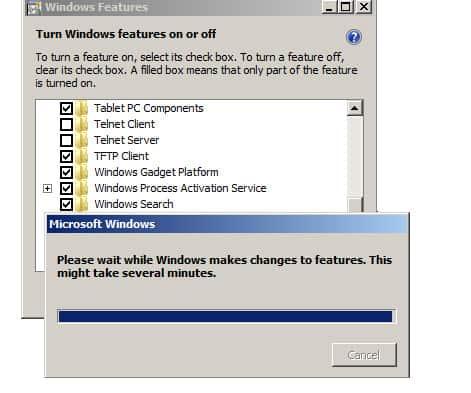 Windows 7 installing TFTP Client software