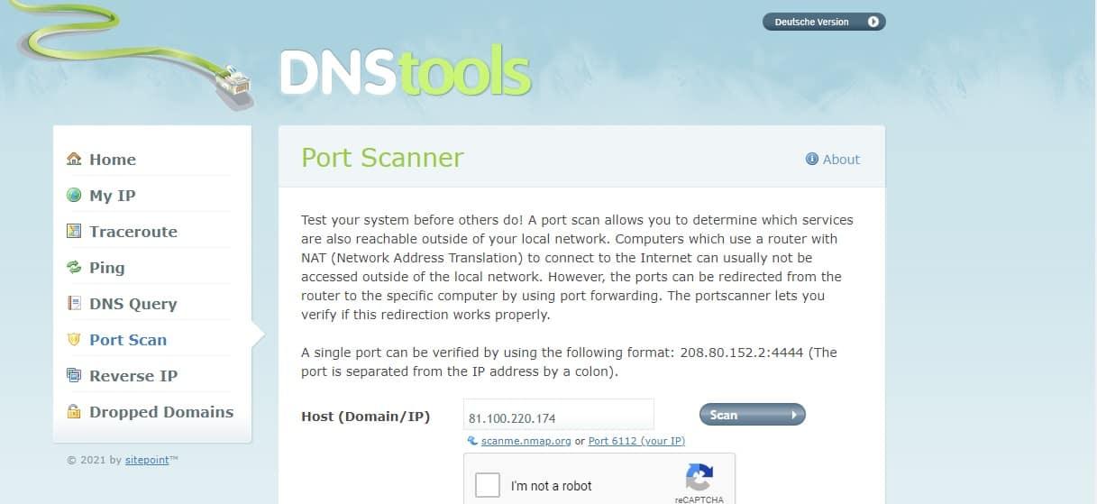 DNS Tools Port Scanner