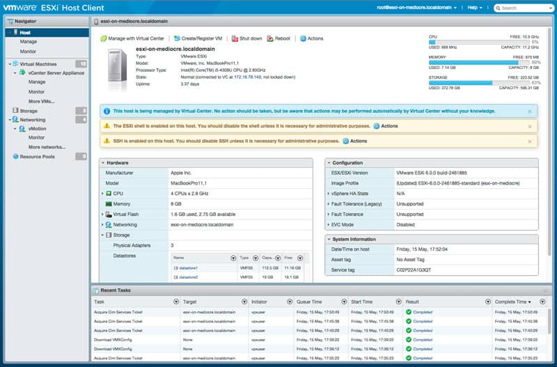 ESXi Embedded Host Client