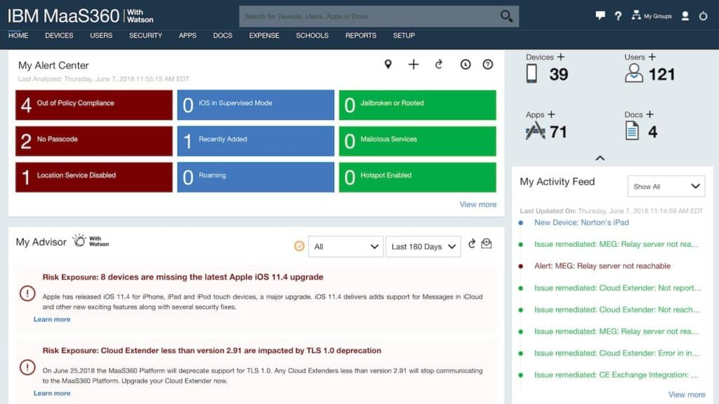 IBM Security IDS / Maas360