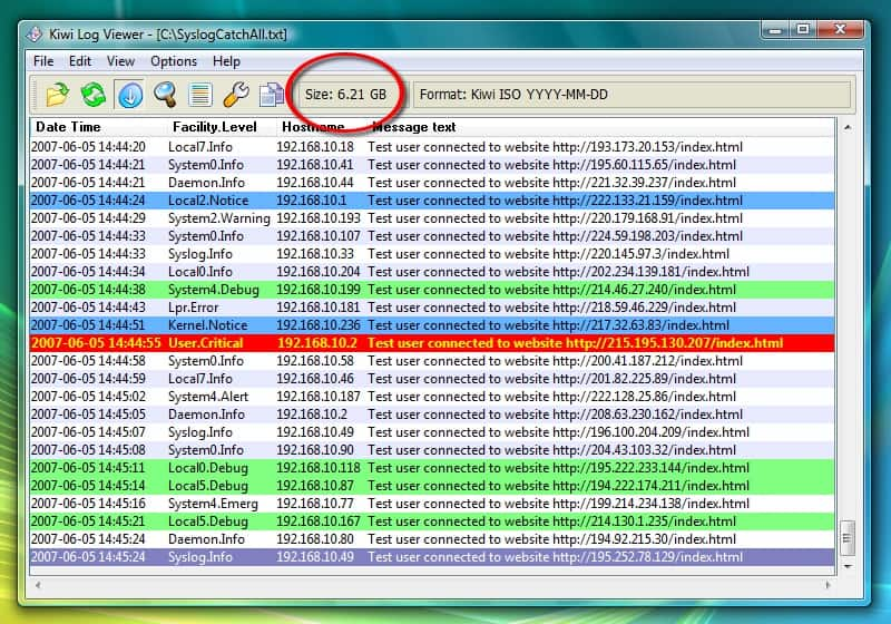 Kiwi Syslog Server Free Version