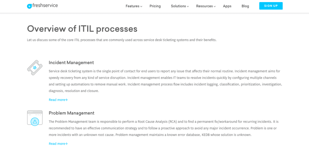 Overview of ITIL Processes