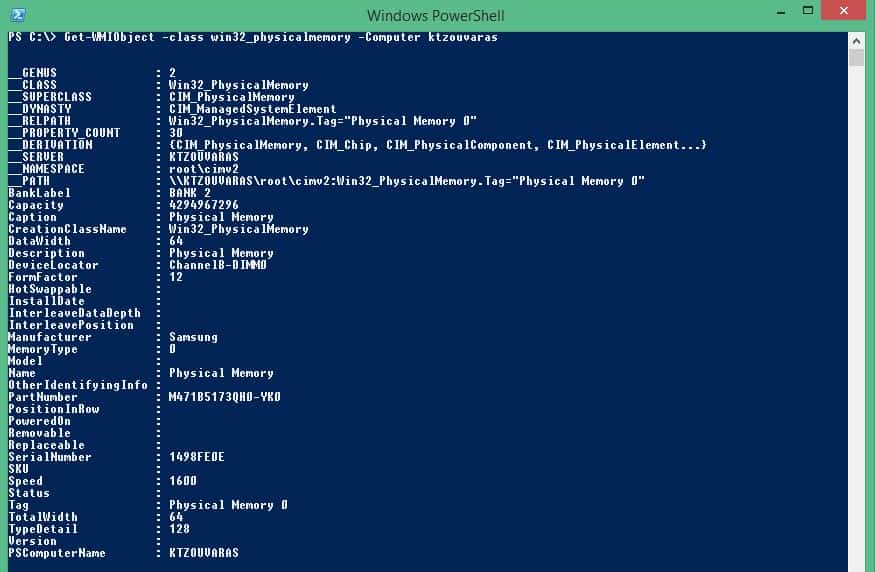 Powershell WMI monitoring