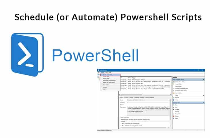 Schedule (or Automate) Powershell Scripts