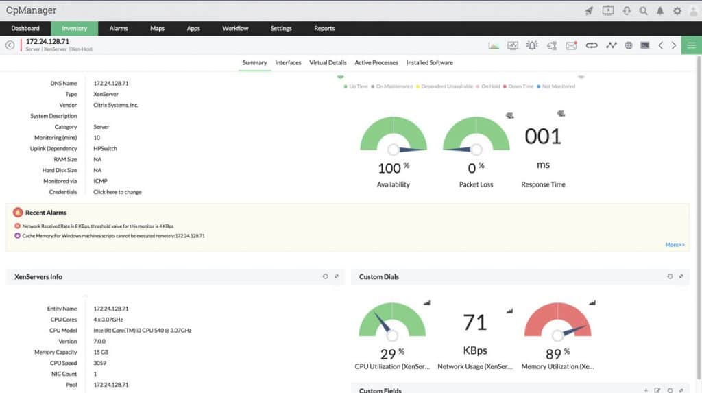XenServer Monitoring Dashboard