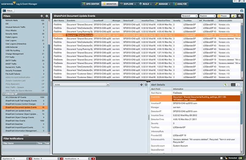SolarWinds Event Log Consolidator and Manager for SIEM