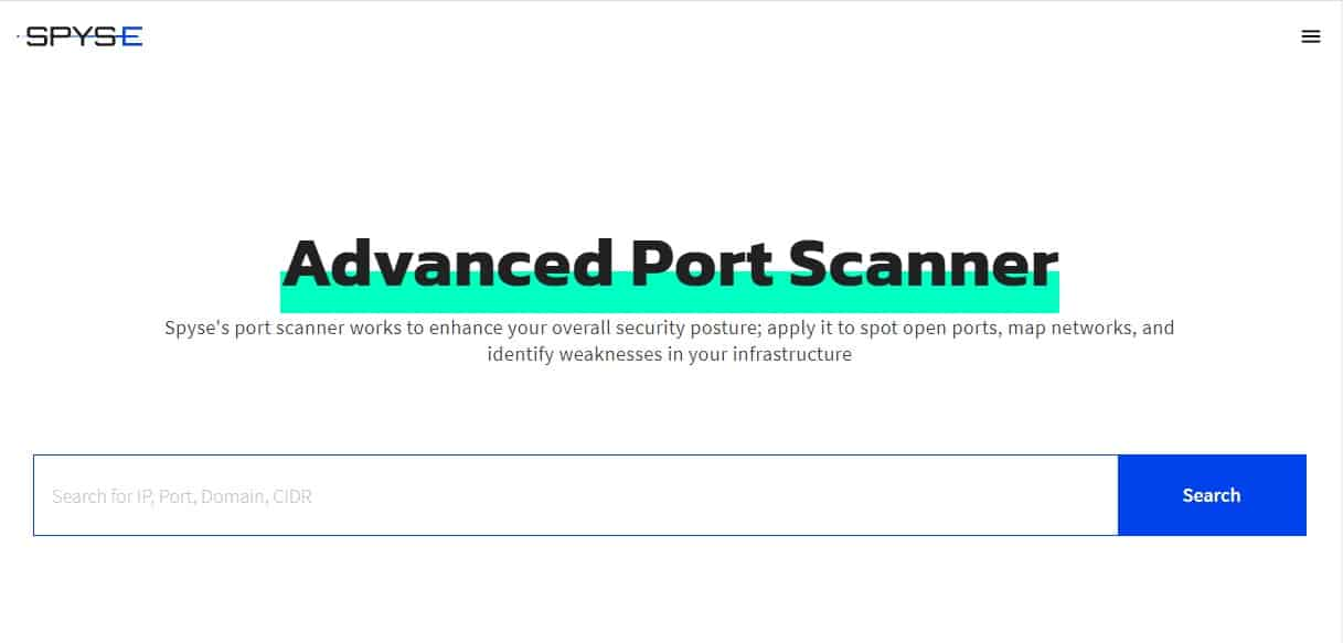 Spyce Advanced Port Scanner