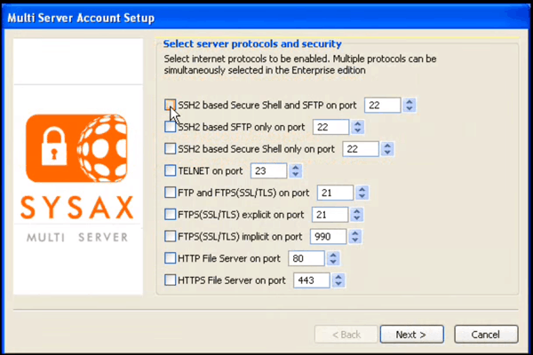 Sysax Multi SFTP Server screenshot and download