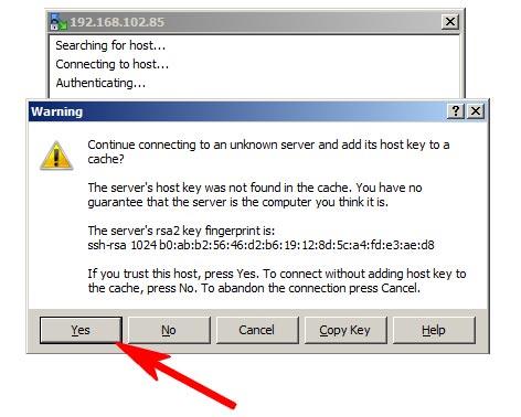 Accept Server Rsa-key