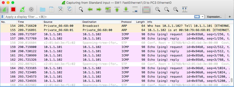 capturing port mirror packets wireshark