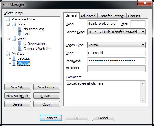 filezilla stfp server