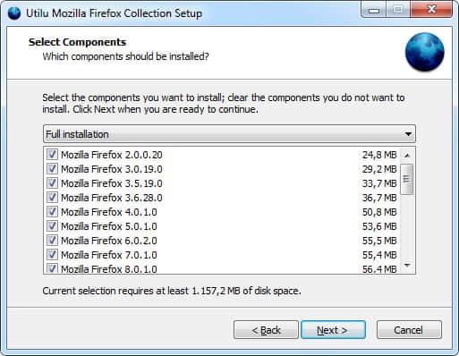 firefox versions installer
