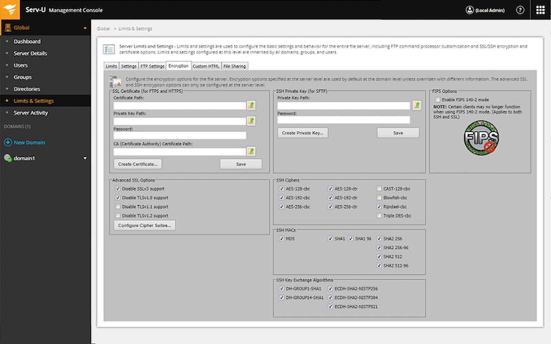 SolarWinds' Serv-U Managed File Transfer Server