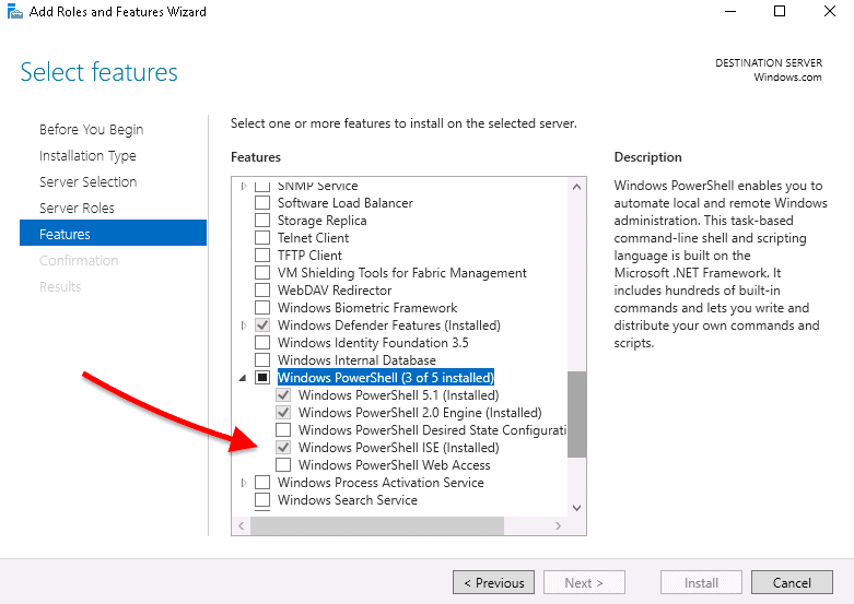 PowerShell Add Roles and Features