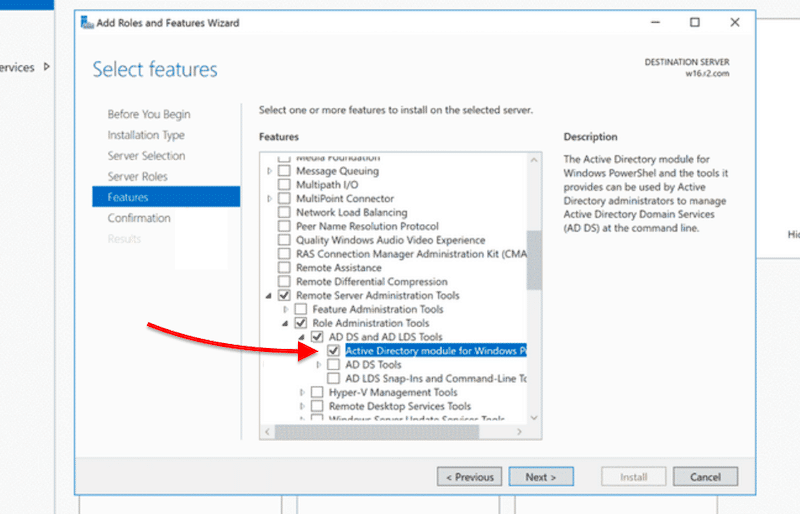 Remote Server Administration Tools, Role Administration