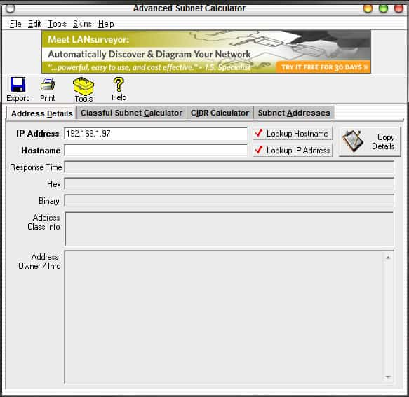 ip subnet calculator software free