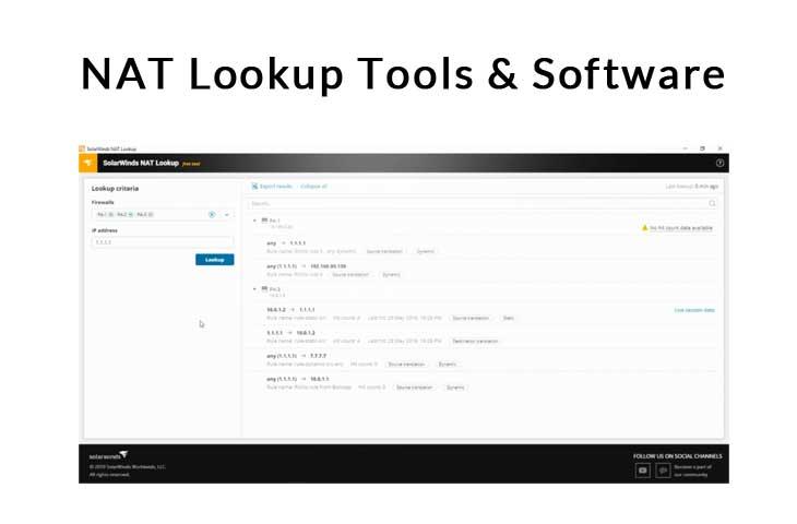 nat lookup tools and software