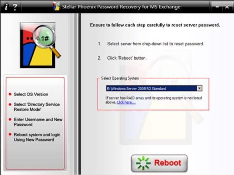 recuperação de senha do servidor windows cd