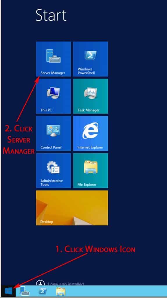 server manager screenshot