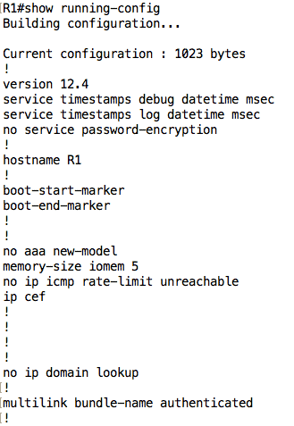 show-running-config