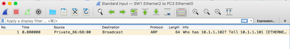 wireshark arp capture request